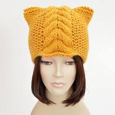 0d8819f2b6845 Cable Knit Hat Pattern    Cable Cat Hat Cable Hat Pattern Cat Ears Cat  Beanie Woman Hat Cabled Hat P