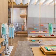 The two-level, 4,300-square-foot shop in Beijing's Kerry Center provides a public stage and window into the world of the 1436 brand, revealing its technical sophistication and ideals of relaxed elegance.