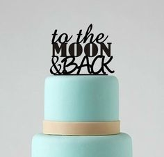 Wedding Cake Topper To The Moon and Back by BestCakeTopperEver, $17.00