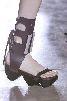 rick owens ss15 shoe details