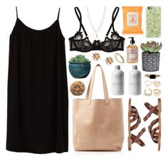 """""""Oasis leather"""" by sophiehackett ❤ liked on Polyvore featuring Topshop, Oasis, Azalea, rag & bone, Agent Provocateur, Simple Pleasures, Campania International, Forever 21, Burt's Bees and Casetify"""