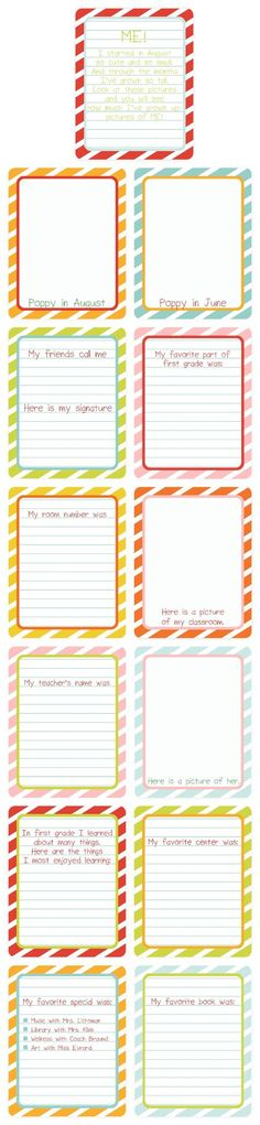 jornaling cards. I like the idea of making cards with prompts that THEY can put into their school album.
