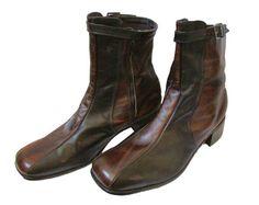 Ankle Zipper Boots Mens Vintage 70s Vegan 10 by GoodNPlentyVinty, $79.99