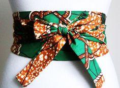 Ankara Print Obi Belt l African Wax Print Obi Corset by LoveYaaYaa African Wear, African Attire, African Dress, African Style, Ankara Dress, African Inspired Fashion, African Print Fashion, Fashion Prints, Cinto Obi