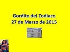 Gordito del Zodiaco Viernes 27 de Marzo 2015 - Loteria Nacional de Panama - Video