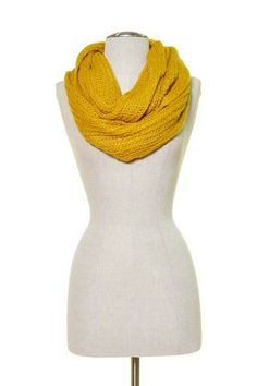 Soft Knitted Infinity Scarf Color: Green – snigo