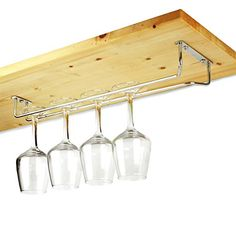 From 7.20:Chrome Plated Glass Rack 16inch | Glass Hanger Glass Holder Glassware Rack Stemware Rack | Wine Glass Rack Champagne Glass Rack
