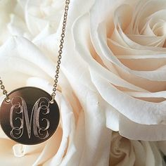 Roses and initials. Get the monogrammed piece here: http://www.stellaanddot.com/lindakay