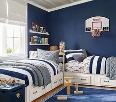 Find children's furniture that your kids will love for their room. Shop Pottery Barn Kids' furniture featuring beds and more in styles that will create the ultimate room. Shared Boys Rooms, Kids Bedroom Boys, Boys Bedroom Decor, Childrens Room Decor, Boys Bedroom Furniture, Kids Rooms, Boys Room Ideas, Boy Bedroom Designs, Boys Bedroom Ideas 8 Year Old