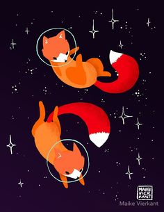 Space Foxes | Canvas Print