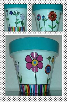 30 Ideas Plants Desing Terra Cotta For 2019 Clay Pot Projects, Clay Pot Crafts, Diy And Crafts, Flower Pot Art, Flower Pot Crafts, Painted Plant Pots, Painted Flower Pots, Decorated Flower Pots, Pottery Painting