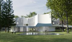 Steven Holl projeta novo edifício de artes visuais do Franklin & Marshall College,Vista Exterior Diurna. Imagem Cortesia de Steven Holl Architects