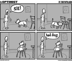 Sit! #comic #webcomic #funny #humor #dog #dogd #woof #training
