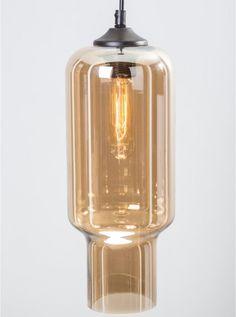 Sleh amber glass pendant light