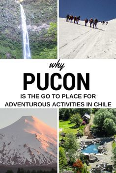 Pucon Chile is a year round destination fuelled by adventure tourism and a mecca within South America for outdoor enthusiasts. One of my top things to do in Chile and best places to visit in Chile. Fly into Pucon directly or arrive in Temuco. Pucon offers climbing Volcan Villarrica, Skiing, Climbing, Horse Riding, Waterfalls, Adventure Travel, Mountain Sports, Outdoor activities, Thermal Baths, Springs, Rivers, Forests #pucon #chile