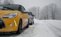 Auch im Winter macht Cabriofahren Spaß - mit dem Citroen #DS3Cabrio.