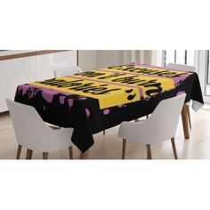 Fitness Tablecloth, Fitness Motivation Quote Excuses Don't Burn Calories Artistic Modern Design, Rectangular Table Cover for Dining Room Kitchen, 60 X 84 Inches, Lilac Yellow Black, by Ambesonne #menfitnessmotivation Fitness Inspiration Quotes, Fitness Quotes, Fitness Motivation Photo, Kitchen Design Open, Fit Couples, Room Kitchen, Dining Room, Table Covers, Burn Calories
