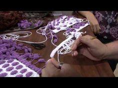 Tapete de Crochê Bolinhas Feito de Barbante e Lã - Vídeo do Passo a Passo de Como Fazer.