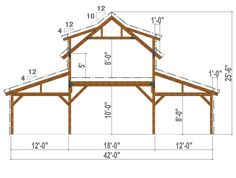 pole barn garage example of Great Plains Western Horse Barn Bent Section example of Great Plains Western Horse Barn Bent Section Pole Barn Kits, Pole Barn Designs, Pole Barn Garage, Building A Pole Barn, Pole Barn House Plans, Pole Barn Homes, Pole Barns, Building Homes, Barn Shop