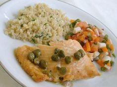 Salmão com molho de alcaparras - http://www.comidaereceitas.com.br/peixes/salmao-com-molho-de-alcaparras.html