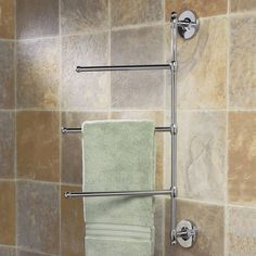 Sometime a regular towel bar is not enough. Gatco has the perfect solution to this problem with its Wall Towel Bar in Chrome. Its unique design gives you tons of extra room for your towels, with three staggered bars. With this towel bar you can have Bathroom Hand Towel Holder, Bath Towel Racks, Towel Rack Bathroom, Towel Hanger, Towel Storage, Small Bathroom Storage, Small Bathrooms, Modern Bathrooms, Towel Shelf