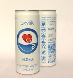 Oxygen water drink. Oxylife - new generation of PURE energy drinks. Drink oxygen water- be healthy and young.