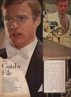 The Great Gatsby (1974) | The Gatsby File. Fashion Editorial: Robert Redford (Gatsby).