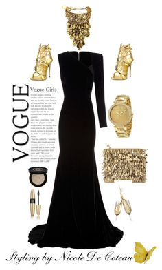 my personal styling by mznicola on Polyvore featuring Alex Perry, Giuseppe Zanotti, Forest of Chintz, Michael Kors, Gucci and Victoria's Secret