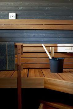 Interior design for Housing fairs in Kokkola 2011 // Deko // Susanna Vento // photography Kristiina Kurronen // Sauna House, Sauna Room, Tiny House Cabin, Saunas, Jacuzzi, Home Interior Design, Interior Architecture, Sauna Design, Outdoor Sauna