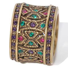 "Heidi Daus ""Byzantine Beauty"" Crystal Band Ring"