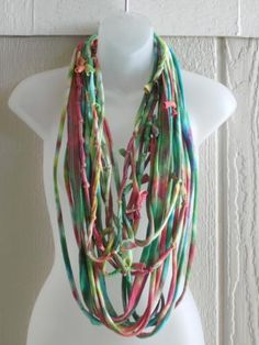 Fun Tie-dyed Recycled Infinity Scarf by Bazotic