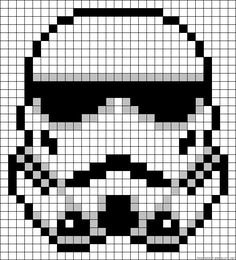 Most current Totally Free Cross Stitch star wars Concepts Stormtrooper Star Wars perler bead pattern. Think I could use this for cross stitch. Crochet Pixel, Star Wars Crochet, Crochet Stars, Star Wars Quilt, Cross Stitching, Cross Stitch Embroidery, Cross Stitch Patterns, Hama Beads Patterns, Beading Patterns