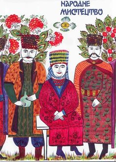 Ukranian folk illustration