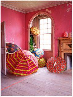 patterned umbrellas