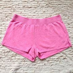 PINK Victoria's Secret lounge shorts Cute Very comfortable. Great for summer can be worn with a hoodie at the beach or even as pajama shorts. They're just too big on me now. Pink Victoria's Secret lounge shorts execute fun comfortable soft. Bundle and save  Victoria's Secret Shorts