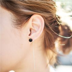 Womens Simple Fashion Tassel Earrings Chain Ear Jewelry Female Personality Pearl Charm on Aliexpress.com | Alibaba Group