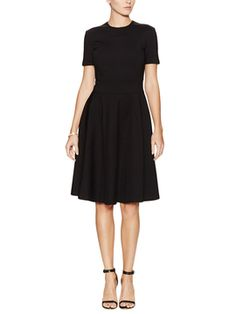 Scoopneck Pleated Flare Dress from The Little Black Dress on Gilt
