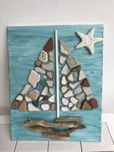 E-mail - herlinda traen - Outlook Sea Glass Crafts, Sea Crafts, Sea Glass Art, Stone Crafts, Rock Crafts, Arts And Crafts, Driftwood Projects, Driftwood Art, Seashell Art