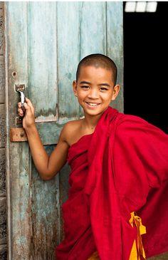 Nice smile of young monk among 500 000 monks in Myanmar... Amazing hey !
