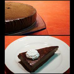 Čokoládový lanýžový dort Slovak Recipes, Dessert Recipes, Desserts, Baked Goods, Cheesecake, Pudding, Pie, Baking, Food