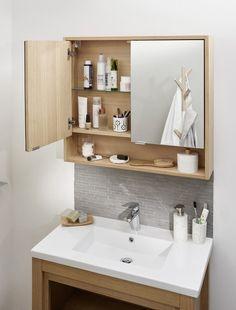 Bathroom Mirror Storage, Small Bathroom Mirrors, Ideal Bathrooms, Bathroom Design Small, Diy Bathroom Decor, Beautiful Bathrooms, Bathroom Interior Design, Modern Bathroom, Bathroom Ideas