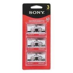 Sony 3MC-60B Microcassette - 3 Pack by Sony. $14.99. The Perfect Solution for dictation, lectures and journalist interviews.