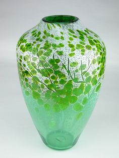 """""""Afton Mountain Spring""""  Art Glass Vase  Created by Daniel Scogna"""