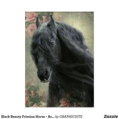 Black Beauty Friesian Horse - Acrylic Art Horse Posters, Photo Composition, Friesian Horse, Acrylic Art, Custom Posters, Black Beauty, Custom Framing, Horses, Canvas