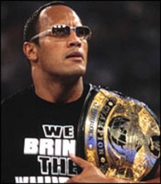 The Great One. The Jabroni beating, pie eating, trail blazin', eyebrow raisin', people's champ THE ROCK! The Rock Dwayne Johnson, Rock Johnson, Dwayne The Rock, Wwe Party, Wwf Superstars, Wwe World, Wwe Tna, Wwe Champions, John Cena