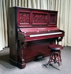 Weber Rococo Victorian Upright Piano   The Antique Piano Shop ...