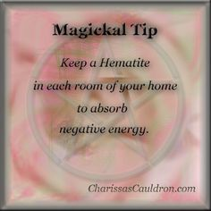 Magickal Tip - Getting Rid of Negative Energy – Charissa's Cauldron