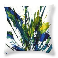 Throw Pillow featuring the painting Abstract Expressionism Painting 96.102711 by Kris Haas