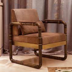 The softness of #leather with an oriental  air for super comfortable and stylish #chair. #sicis #sicishomecollection #sicishome #furniture #furnituredesign #furnitureideas #luxuryfurniture #home #homedecor #homedecorideas #homedesign #designinspiration #livingroomideas #livingroomdecor #luxury #livingroomdesign #texture #armchair