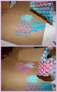 Fraldas & Rabiscos: DIY - Pinturas diferentes para fazer com crianças